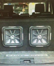 Custom Bass System for Range Rover