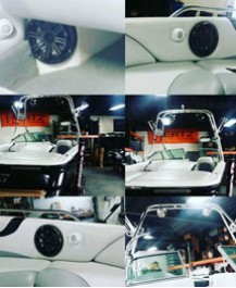 Custom Boat Sound System complete with Speakers, Amps & Subwoofers