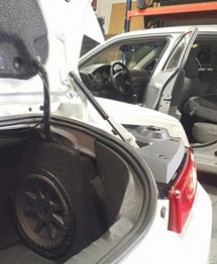 Hifonics Bass System customized for Trunk