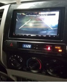 Kenwood DNX992 with backup camera installation
