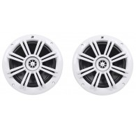 "Kicker 41KM604W 6.5"" (160MM) Marine Coaxial Speakers with 1/2"" (13MM) Tweeters, White, 4 OHM"