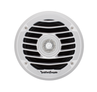 "6"" Punch Series Marine 2-Way Full Range Speakers - White w/ Luxury Grille"