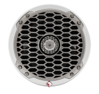 "6.5"" 4-Ohm Punch Series Marine Coaxial Speakers - Stainless Steel Grille"