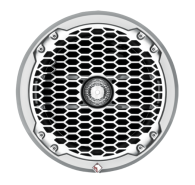 "8"" 2-Way Punch Series Full Range Coaxial Marine Speaker - White"