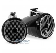 "8"" Punch Series Wakeboard Tower Speakers With Horn Tweeter - Black"