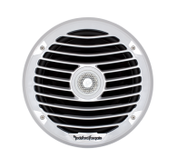 "8"" 2-Way Punch Series Full Range Coaxial Marine Speaker - White w/ Luxury Grills"