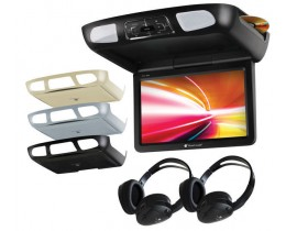 Flip Down TV with Built-In DVD and Free Headphones
